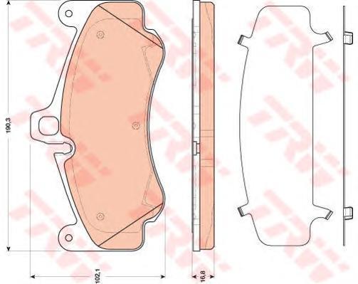 GDB1817 Колодки тормозные PORSCHE 911 3.8 06- передние