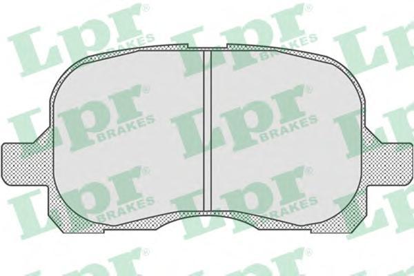 05P768 Колодки тормозные TOYOTA COROLLA 1.4/1.6 97-02 передние