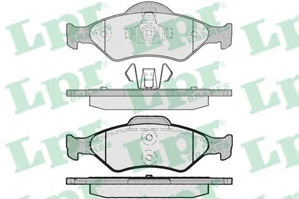 05P795 Колодки тормозные FORD FIESTA 95-02/KA 96-08/MAZDA 121 00- передние