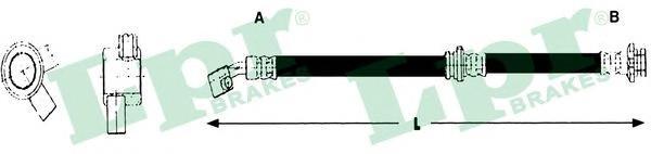 6T48230 Шланг тормозной NISSAN PRIMERA (P10) 91-96 передний правый