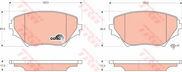 GDB3251 Колодки тормозные TOYOTA RAV4 II 00-06 передние