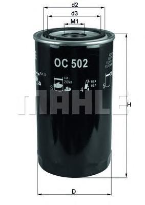 OC502 Фильтр масляный IVECO EUROCARGO