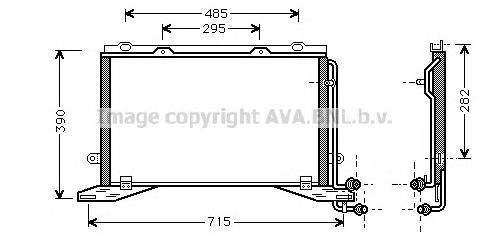 MSA5268 Радиатор кондиционера MERCEDES-BENZ: E-CLASS (W210) E 250 D (210.010) 95 - 02