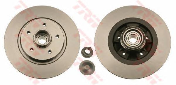 DF6043BS Диск тормозной RENAULT KANGOO 08- задний с подшипником,с кольцом АБС