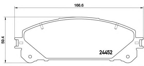 P83145 Колодки тормозные LEXUS RX 09-/TOYOTA HIGHLANDER 07- передние
