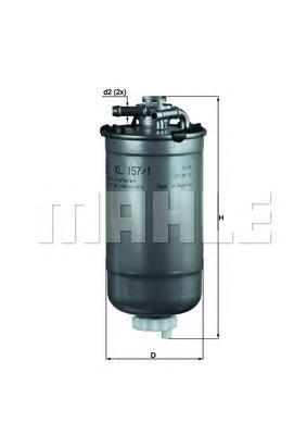 KL1571D Фильтр топливный SEAT: CORDOBA 02-, IBIZA IV 02-, SKODA: FABIA 99-, FABIA Combi 00-, FABIA Praktik 02-, FABIA седан 99-,