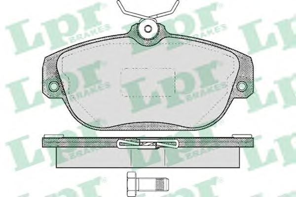 05P601 Колодки тормозные VOLVO 740-960 передние