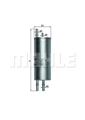 KL167 Фильтр топливный BMW X5 4.4/4.6 00-/RANGE ROVER 4.4 02-