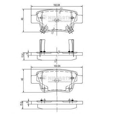J3612030 Колодки тормозные TOYOTA AVENSIS 03/COROLLA VERSO 04 задние