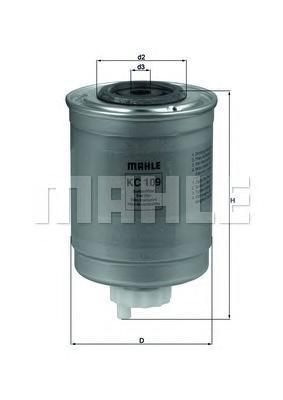 KC109 Фильтр топливный FORD TRANSIT 2.5D 94-00