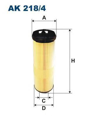 AK2184 Фильтр воздушный MB W203 200/220CDI