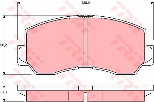 GDB785 Колодки тормозные MITSUBISHI GALANT/L300/PAJERO 80-90 передние