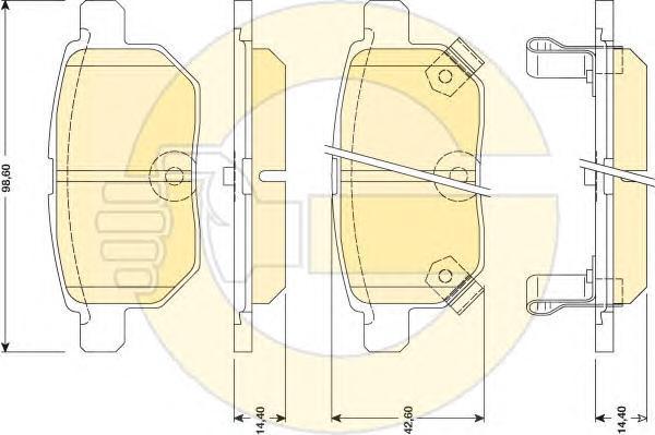 6134549 Колодки тормозные TOYOTA COROLLA 1.4 VVT-I 02/AURIS 1.6/1.4 07 задние