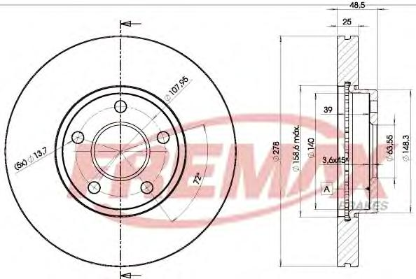 bd3963 Тормозной диск