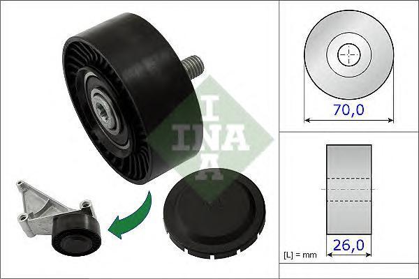 532071810 Ролик ремня приводного PORSCHE 911/CAYMAN/BOXSTER 2.7-3.8