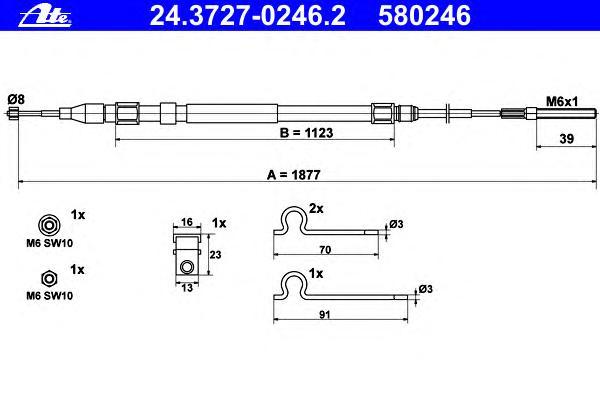 24372702462 Трос, стояночная тормозная система