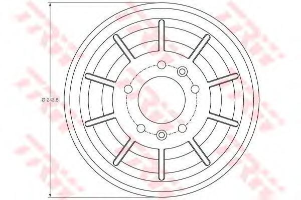 db4405 Тормозной барабан