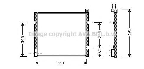 HD5095 Радиатор кондиционера HONDA: CIVIC V (EJ9, EK3/4) 1.4/1.4 i (EJ9)/1.5 i (EK3)/1.6 VTi (EK4)/1.6 i Vtec 95 - 01 , CIVIC V