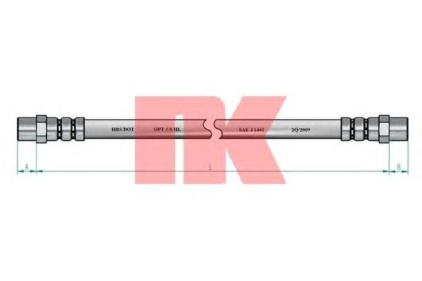 854744 Шланг тормозной передний / AUDI-100, 200  77~