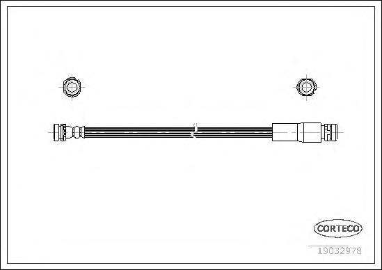 19032978 Шланг тормозной MAZDA: 2 1.25/1.3 L/1.4/1.4 CD/1.5/1.6 03-