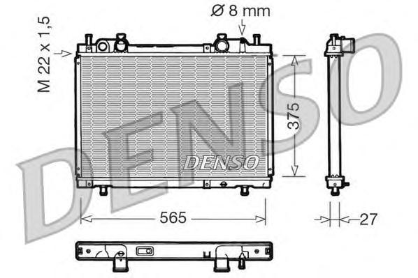 drm09026 Радиатор системы охлаждения FIAT: BRAVA (182) 1.9 D 95 - 02 , BRAVO (182) 1.9 D 95 - 01