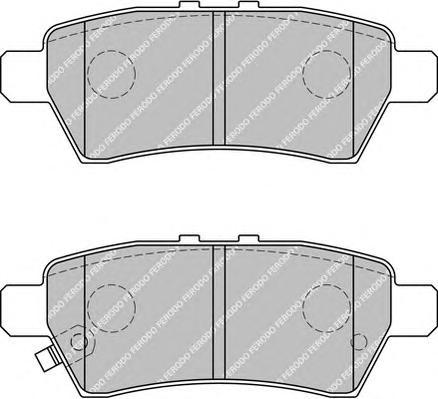 FDB1882 Колодки тормозные NISSAN PATHFINDER 05-/NAVARA 05- задние