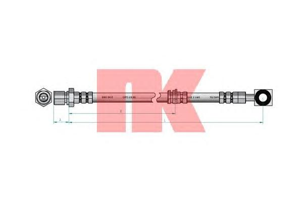 853650 Шланг тормозной передний / OPEL Vectra-B