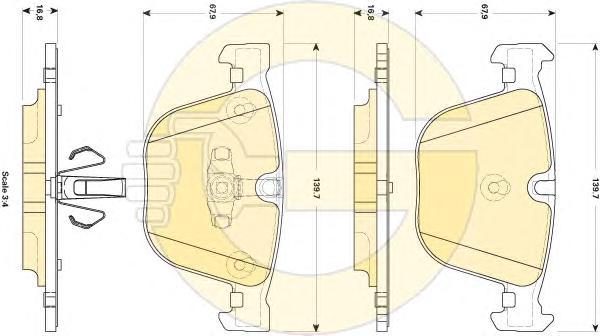 6118572 Колодки тормозные BMW F07 GT 535-550 10-/F01/02/03/04 730-760 08- задние
