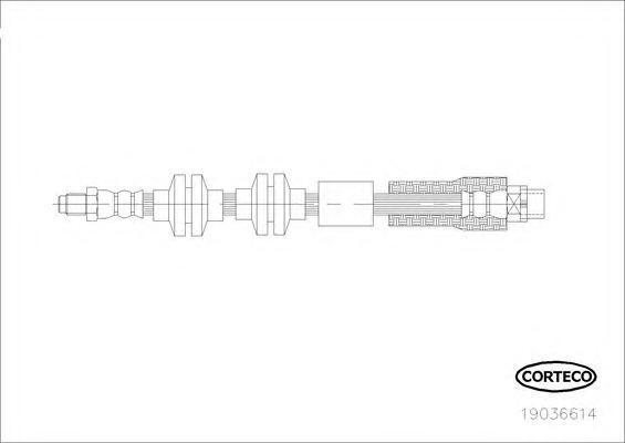 19036614 Шланг тормозной передн BMW: X1 (E84) sDrive 16 d/sDrive 18 d/sDrive 18 i/sDrive 20 d/sDrive 20 i/xDrive 18 d/xDrive 20