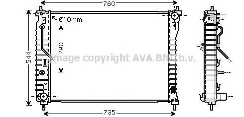 OL2434 Радиатор системы охлаждения CHEVROLET: CAPTIVA 2.4/2.4 4WD/3.2 4WD 06 -   OPEL: ANTARA 2.4/3.2 V6 06 -   VAUXHALL: ANTARA