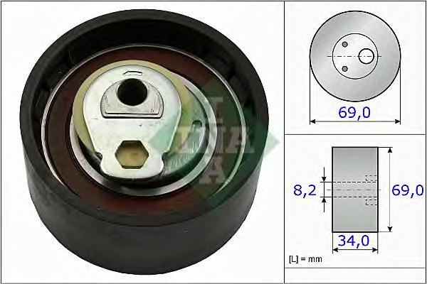 531050510 Натяжитель ремня ГРМ FIAT DUCATO 2.3D 02-