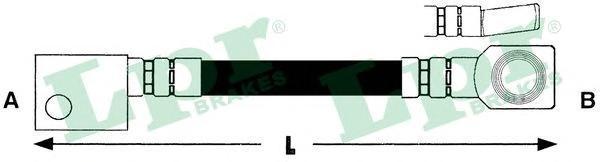 6T46152 Шланг тормозной 350mm пер KADETT E (F07203)