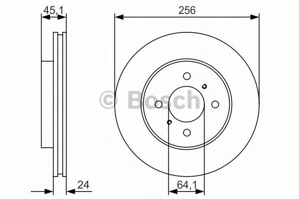 0986479R51 Диск тормозной передн MITSUBISHI: COLT IV (CA_A) 1.8 GTi 16V (CA5A) 92-96  PROTON: WIRA 1.5/1.6 00-, WIRA Наклонная з