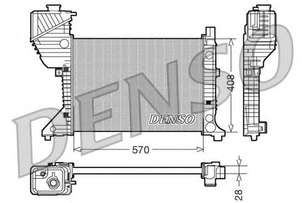 DRM17016 Радиатор системы охлаждения MERCEDES-BENZ: SPRINTER 2-t c бортовой платформой/ходовая часть (901, 902) 208 D/210 D/212