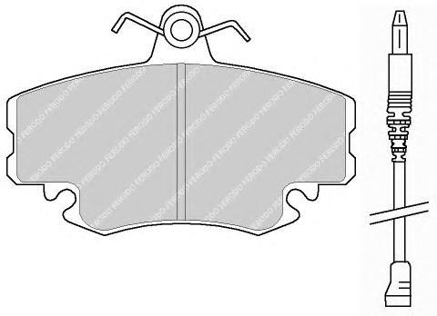 FDB845 Колодки тормозные RENAULT LOGAN 04-/SANDERO 08-/CLIO 91- передние с датчиком