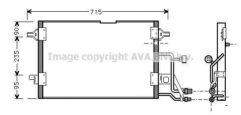 AI5116 Конденсер VAG A4 1.6-2.8/1.9 TDi 95-02