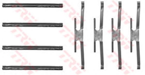 PFK223 Пружины прижимные дисковых колодок к-т.с штифтами OPEL KADETT/OMEGA/VECTRA перед
