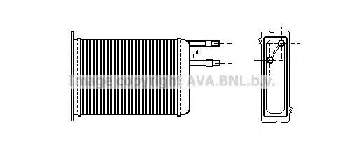CN6128 Радиатор отопителя CITROEN JUMPER/FIAT DUCATO 94-02