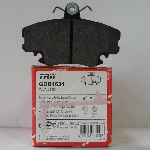 GDB1634 Колодки тормозные RENAULT LOGAN 04-/SANDERO 08-/CLIO 91- передние без датчика