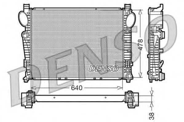 DRM17094 Радиатор MB W220 5.5-6.5/3.2D/4.0D 99-06