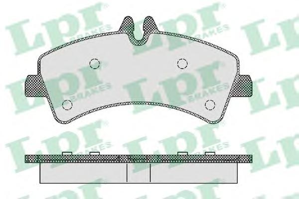 05P1294 Колодки тормозные MERCEDES SPRINTER (906)/VOLKSWAGEN CRAFTER 06 задние