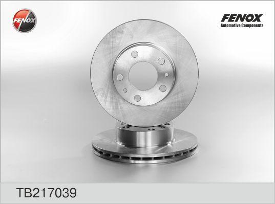 TB217039 Диск тормозной FIAT Ducato (07-) (2.3) (Елабуга) (R15) передний (1шт.) FENOX