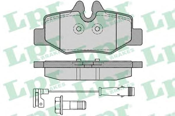 05P1246 Колодки тормозные MERCEDES VIANO/VITO W639 03- задние с датч.