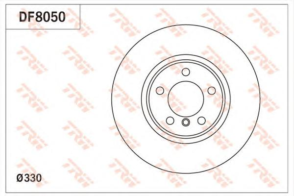 DF8050 Диск тормозной BMW 3 F30 11- передий вент.D=330мм.