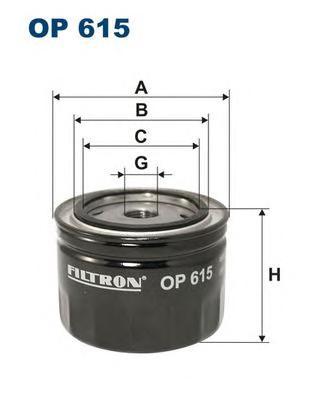 OP615 Фильтр масляный OPEL OMEGA A/SENATOR B 3.0