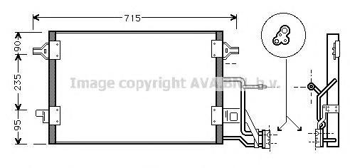 AI5173 Радиатор кондиционера AUDI: A4 (8D2, B5) 1.9 TDI/1.9 TDI quattro/2.5 TDI/2.5 TDI quattro 95 - 00 , A4 Avant (8D5, B5) 1.9