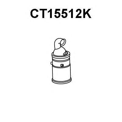 ct15512k КАТАЛИЗАТОРBERLINGO/C2/C3/C4/C5/II/XSARAPICASSO/206/207/307/308/407/1007/3008/