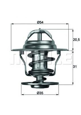 TX1392D Термоcтат VOLVO C70/S40 2.0-2.5 98-05/S60 2.4 00-/XC70 2.4T 97-02