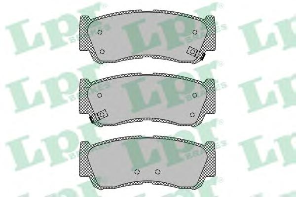 05P1417 Колодки тормозные HYUNDAI H-1 01-/SANTA FE (CM)/(SM) 05- задние