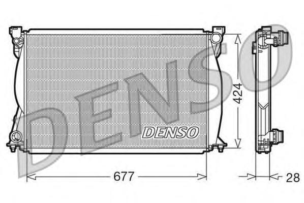 DRM02038 Радиатор системы охлаждения AUDI: A6 (4F2) 2.7 TDI/2.7 TDI quattro/3.0 TDI quattro 04 - , A6 Allroad (4FH) 2.7 TDI quat